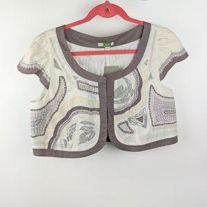 NWT Anthropologie Ett Twa Embroidered Jacket